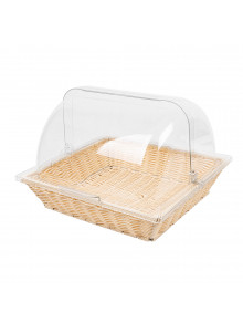 Covered Rectangular Bamboo Serving Food Tent Basket Patio