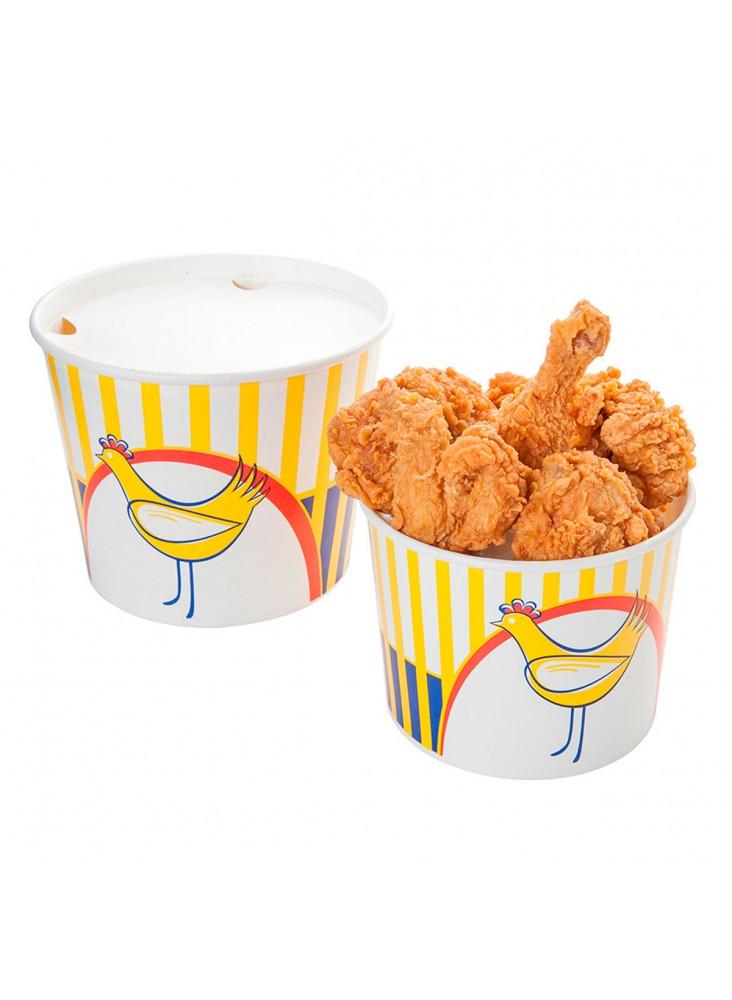 Chicken Buckets Lids 2550 Ml 18pe 380 15pe G M2 ø 18 9 14 7x14 5 Cm White Cardboard Foodservice Products Horecazon