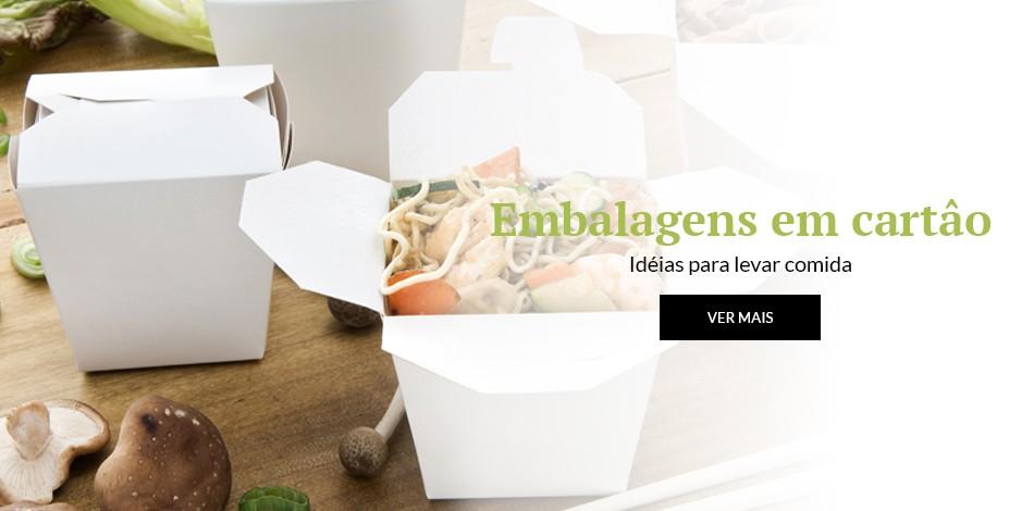 Embalagens em cartâo | Idéais para levar comida